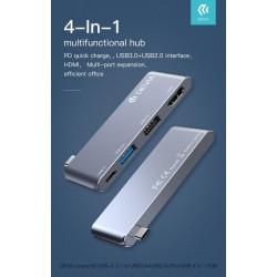 Hub da Tipo-c to HDMI USB3.0+USB2.0+PD 4 in 1