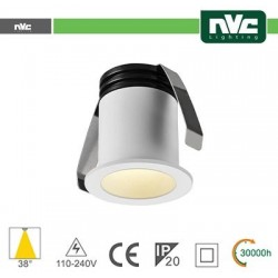 Punto Luce LED 2W 3000K 38° IP20 FORO:35mm