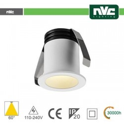 Punto Luce LED 2W 3000K 60° IP20 FORO:35mm