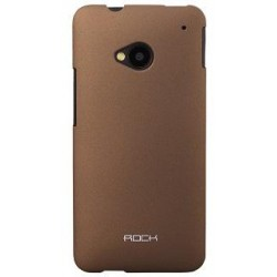 Cover Rock Naked serie in Policarb HtC One M7 Caffe'